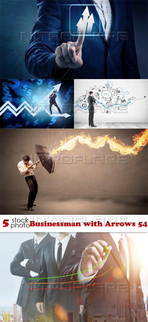 Растровый клипарт - Businessman with Arrows 54