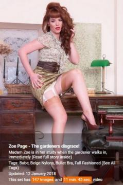 Zoe Page - The gardeners disgrace! (2018) FullHD 1080p