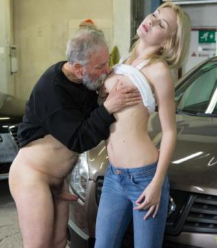 Daniela C - Blondie gets a special service in the garage (2018) HD 720p