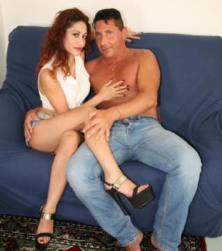 Pierre D.j., Dana Santo - Busty Italian swinger deepthroats and fucks in crazy amateur sex scene (2018) HD 720p
