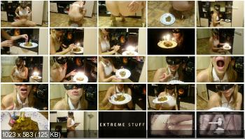 Extreme Scat (Brown wife) Cake of shit [FullHD 1080p] Smearing, Solo