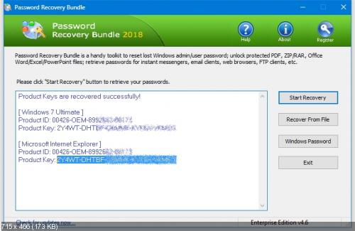 Password Recovery Bundle 2018 Enterprise Edition 4.6 DC 09.01.2019