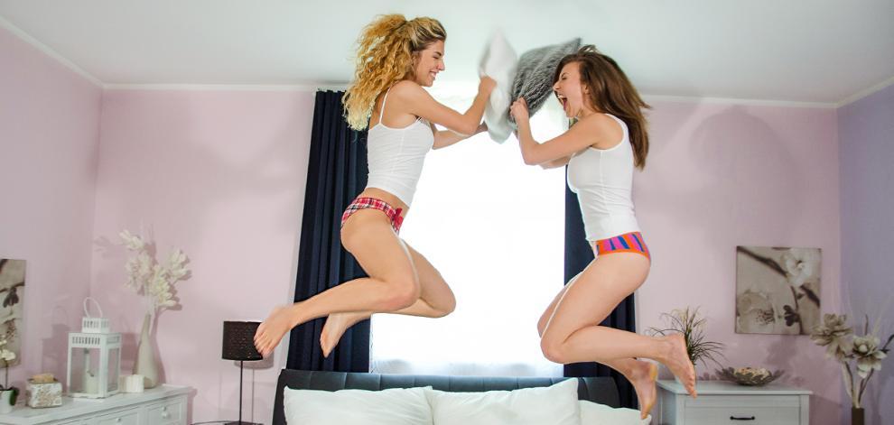[Lesbea.com] Emylia Argan & Shona River - Pillow fight before lesbian sex (09.09.2018) [Lesbian, 1080p]